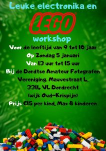 Leuke Electronika en Lego workshop @ Dordtse Amateur Fotografen Vereniging